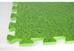 Merkloos / Sans marque Zwembad tegels | Gras groene vloertegels | Ondergrond | 6 stuks | Fitness Puzzelmatten Set - totaal 120x80x1,2cm - 0,96 m2
