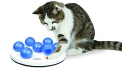 Trixie Cat Activity Solitaire - Kattenspeelgoed - 20 cm Wit Blauw
