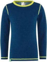Vossatassar Solid shirt merino wol - blauw