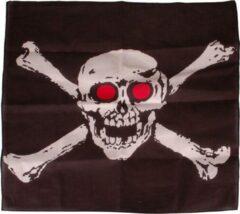 Zwarte S.Y.W Bandana/Doek Piraten - Jolly Roger 50x50