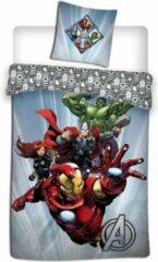 Marvel dekbedovertrek Avengers 140 x 200 cm microfiber grijs