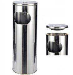 Roestvrijstalen Smart Haushalt 16260 - Asbak - RVS - met afvalbak - 25 liter
