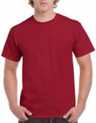 Gildan Donkerrood katoenen shirt voor volwassenen L (40/52)