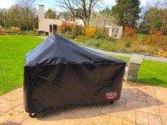 Zwarte BBQ Deco BBQdeco Afdekhoes voor 155 cm tafel met 47 cm bbq