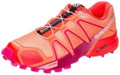 Rosa Speedcross 4 Trail Laufschuh Damen Salomon bird of paradise / nasturtium / pink yarrow