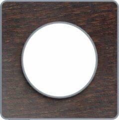 Afdekraam Odace Touch 1V - Wenge/Aluminium - Schneider Electric - S530802P