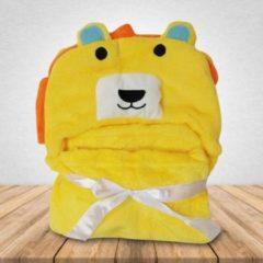 Gele Babydeken Leeuw - Wikkeldeken & Badcape - 100 x 70 cm - Kraamcadeau - Comfy Capes