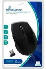 Zwarte MediaRange MROS208 muis RF Draadloos Optisch 1600 DPI Rechtshandig