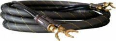 Gouden Dynavox high-end luidspreker kabel set van 2 kabels van 1,5 meter