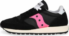 Saucony - Dames Sneakers Jazz Original Vintage Black/Pink - Zwart - Maat 38 1/2
