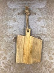 Bruine Homestylingshop.nl Snijplank - naturel - mangohout - 42x29 cm