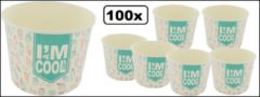 Thema party 100x IJsbeker I`M a COOL cup karton 400ml
