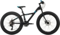Cicli Cinzia 24 ZOLL CINZIA XX FAT JUNGEN MOUNTAINBIKE 21-GANG Kinder schwarz-blau.matt