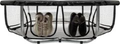 Zwarte VirtuFit Trampolinerok met Opbergvak - Veiligheidsnet - 366 cm