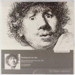 Rode LANZFELD Servetten Rembrandt , ets, Verbaasde blik