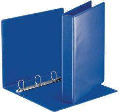 Esselte personaliseerbare ringmap, rug van 5,1 cm, 4 D-ringen van 30 mm, blauw