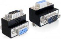 Zwarte DeLOCK 65267 Sub-D 9 pin Sub-D 9 pin Zwart kabeladapter/verloopstukje