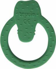 Groene Trixie - Ronde bijtring natuurlijk rubber - Mr. Crocodile