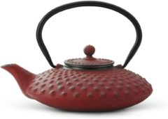 Rode Bredemeijer Xilin Theepot 0,8 L - Rood