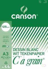 Witte Canson Tekenblok C à grain 125 g/m² formaat 297 x 42 cm (A3)