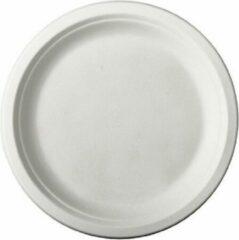 Pure - Disposable Tableware 60x Witte suikerriet dinerbordjes 26 cm biologisch afbreekbaar - Ronde wegwerp bordjes - Pure tableware - Duurzame materialen - Milieuvriendelijke wegwerpservies borden - Ecologisch verantwoord