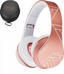 Roze PowerLocus P2 draadloze Over-Ear Koptelefoon Inklapbaar - Bluetooth Hoofdtelefoon - Met microfoon - Rose Gold