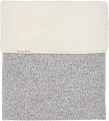 Grijze Koeka - Babydekentje - Wiegdeken Teddy Vigo - 75x100 - Sparkle Grey/Pebble