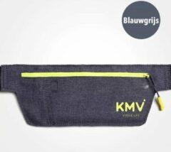 KMV Heuptas - Running belt - Heuptasje - Hardloop - Sport heuptas - Unisex - Blauwgrijs
