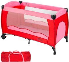 Rode TecTake - kinder reisbed babybed - rood / roze - 402415