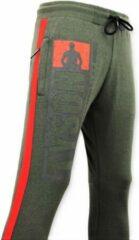 Local Fanatic Exclusieve Sweatpants Heren - Mike Tyson Trainingsbroek - Groen - Maten: S