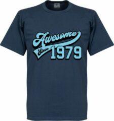 Retake Awesome Since 1979 T-Shirt - Blauw - M