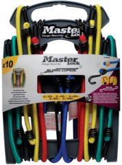 MasterLock 10 Snelbinders dubbele haak 2x25cm, 2x45cm, 2x60cm, 2x80cm, 2x100cm 3043EURDAT