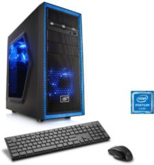 CSL Gaming PC | Pentium G4560 | GeForce GTX 1050 Ti | 8 GB DDR4 RAM »Speed T1925 Windows 10 Home«