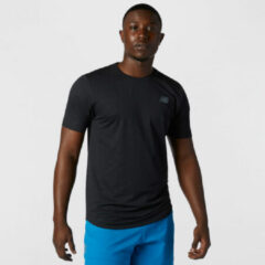 Zwarte New Balance Q Speed Fuel Short Sleeve Running Top - Hardloopshirts (korte mouwen)