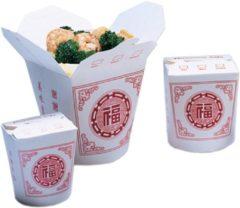 Witte Neutraal Bak, Karton, 460ml, oosterse maaltijdbak, 82x70x95mm, wit