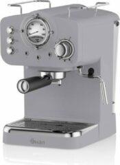 Swan Espressomachine Retro Grijs - Stoompijpje