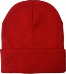 Melady Muts Dames MLCAP0004R Rood Synthetisch Rond Hoofddeksel