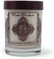 Naturelkleurige Prabhuji's Gifts Premium sojakaars Chakraserie, 1e chakra, sandelhout