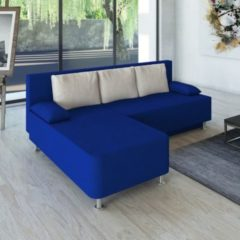 Ecksofa Bettsofa Schlafsofa Couch mit Schlaffunktion 'Magota Blau' 81 x 203 x 78 cm VCM Blau