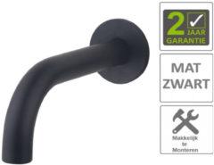 Boss & Wessing BWS Uitloop Inbouw Rond 20 cm Mat Zwart