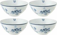 Blauwe Laura Ashley Laura Ashely Set van 4 Kommen 80 cl China Rose