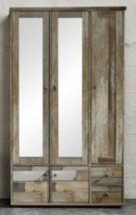 Garderobenschrank Driftwood mit Spiegeltür Innostyle Bonanza