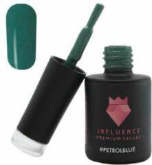 Influence - Premium Gellac Influence Gellac #PETROLBLUE - UV / LED Gellak - Gel nagellak - Gel lak - Blauw / Groen - 10 ml