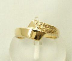 Gele 14 karaat geel gouden Christian ring