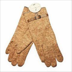 Bruine Winter Handschoenen Sable d'Or van BellaBelga