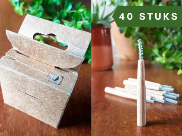 Afbeelding van ZachtBlad 40 Ragers + Flosdraad - Maat L - Ragers Mondverzorging – Tandenstokers - Eco-vriendelijk – Hygiëne – Mondverzorging set – Gebit verzorging – Duurzaam – Voordeelset - Bamboe