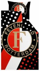 Rode Feyenoord Streep - Dekbedovertrek - Eenpersoons - 140 x 200 - Multi