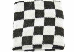 Zac's Alter Ego Zweetband Checkered Wit/Zwart