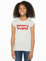Licht-grijze Levi's Kids T-shirt Batwing met logo lichtgrijs