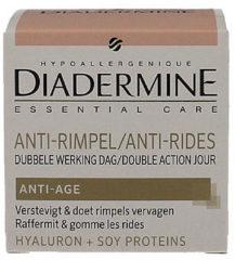 Diadermine Essential Care Anti-rimpel Dagcrème dubbele werking 1 stuks